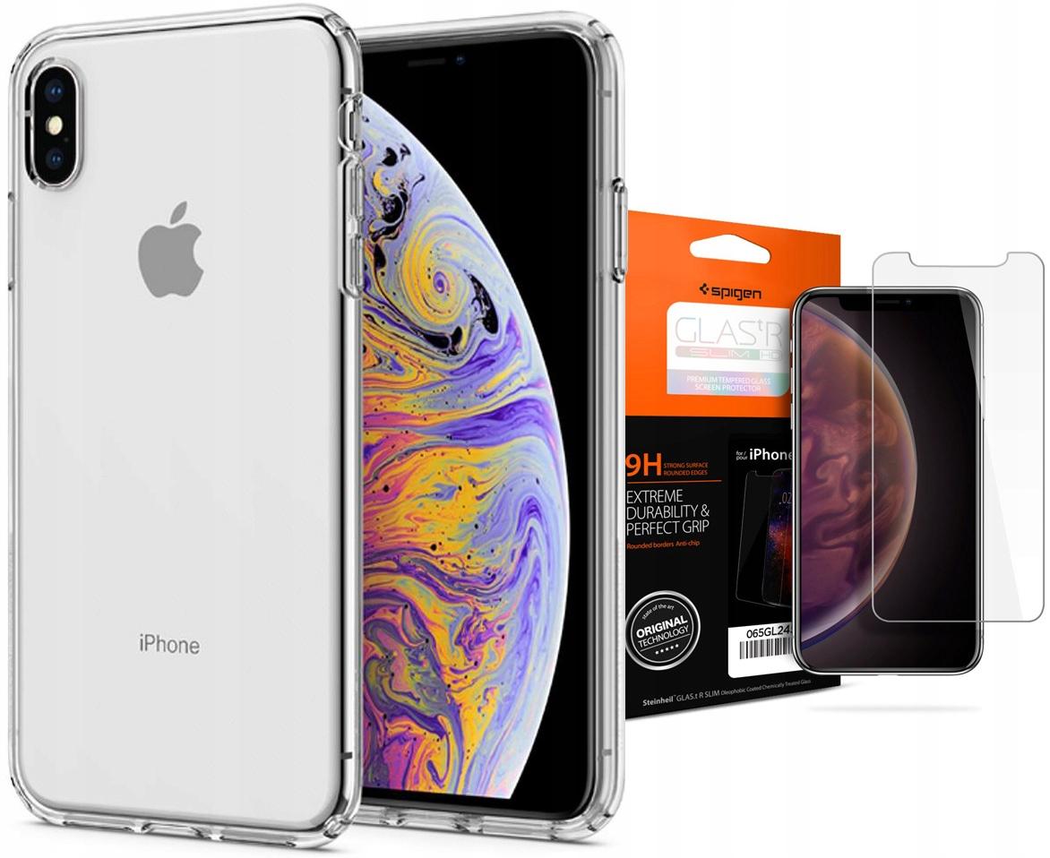 Etui + szkło hartowane do iPhone Xs Max, Spigen LC