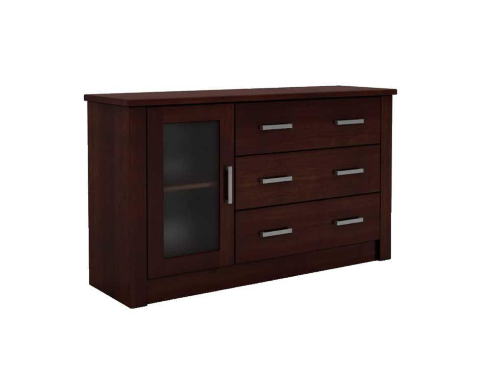 DSI-nábytok: drevené Hrudníka FADO 1D/3 XL so sklom