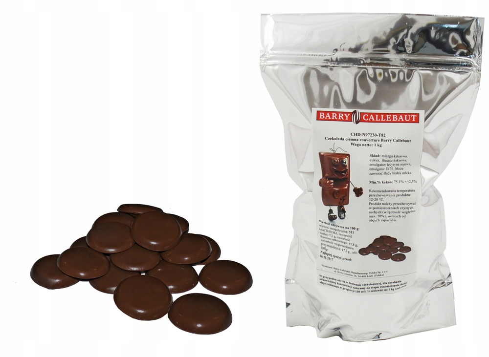 Item The BEST Chocolate BITTER 75% 1 KG BARRY fondue