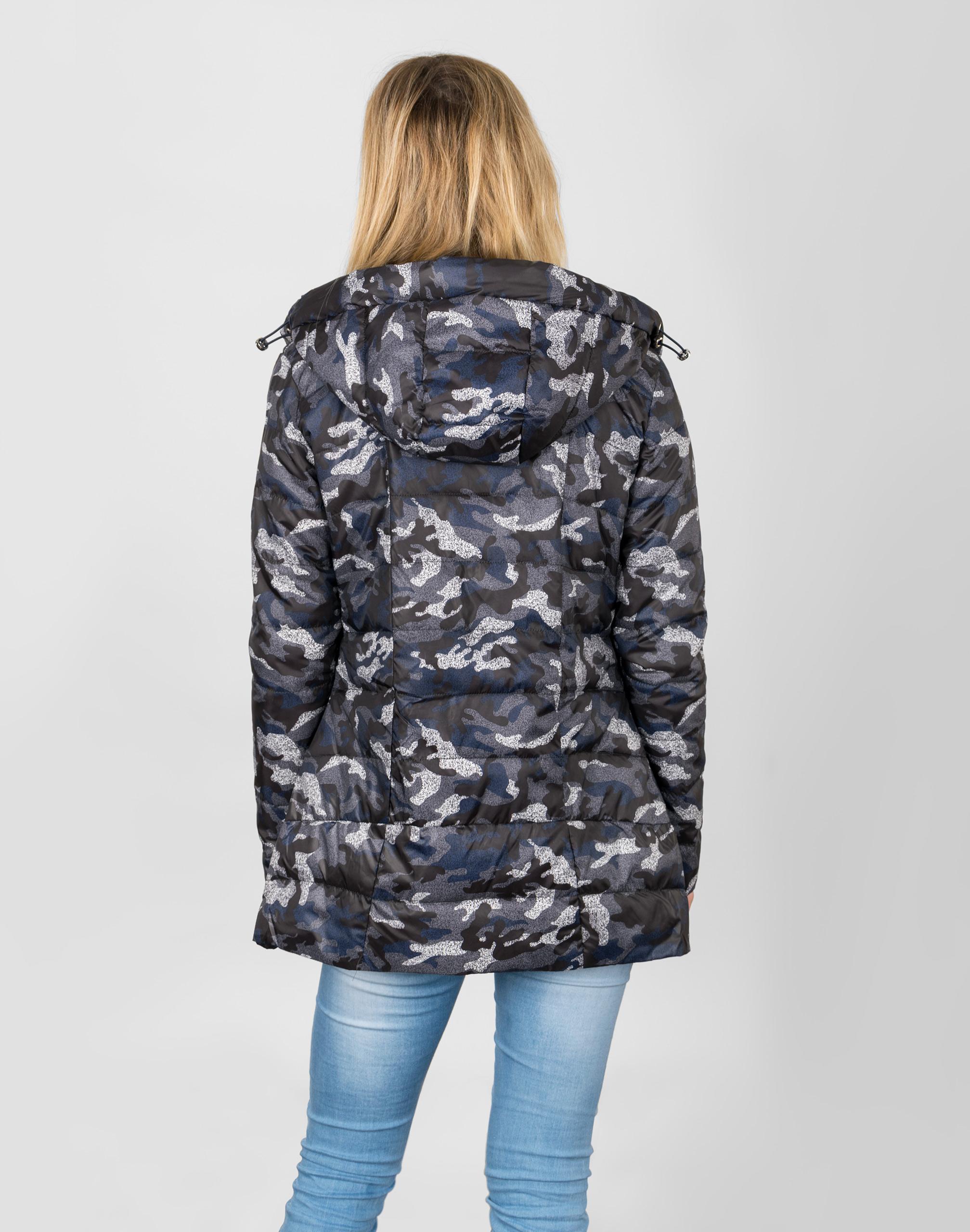 damska czarna kurtka z moro dodatkiem