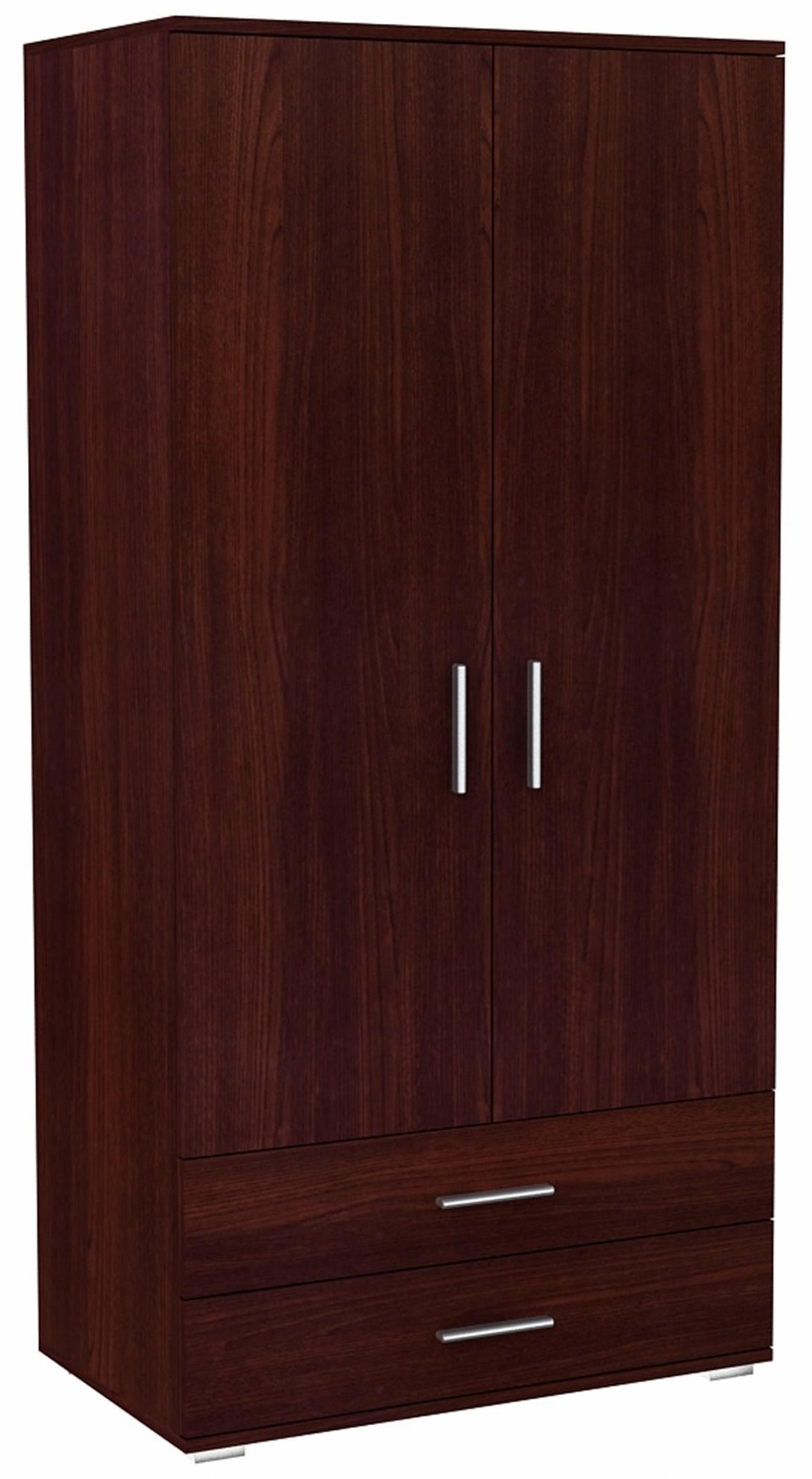 Шкаф двое дверей BODO 2D2S Венге 2 ящики Стеллаж