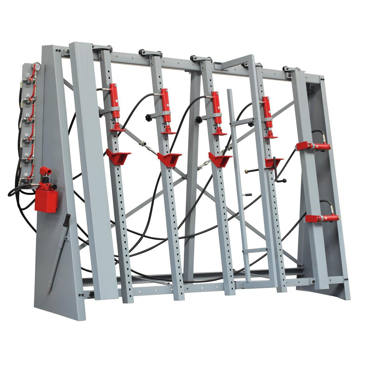 Hydraulický lis pre lepenie drevených schodov