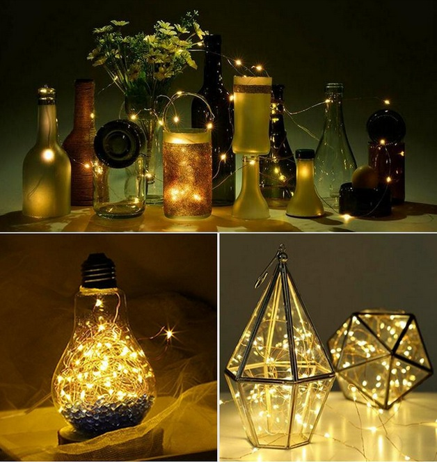 LAMPKI DRUCIKI 200 LED MIKRO NA PRĄD 3 KOLORY