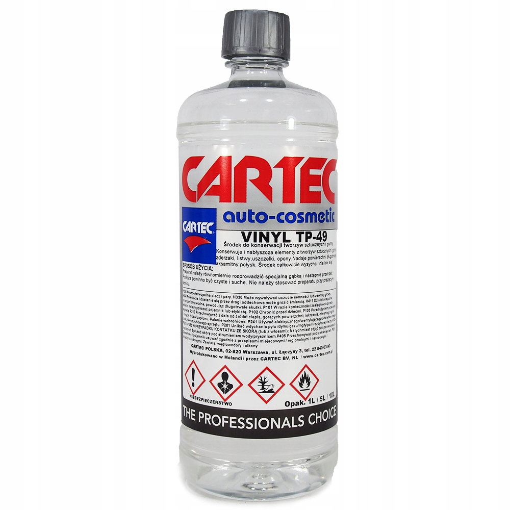 CARTEC VINYL TP-49 1L глянцевая резина, пластик