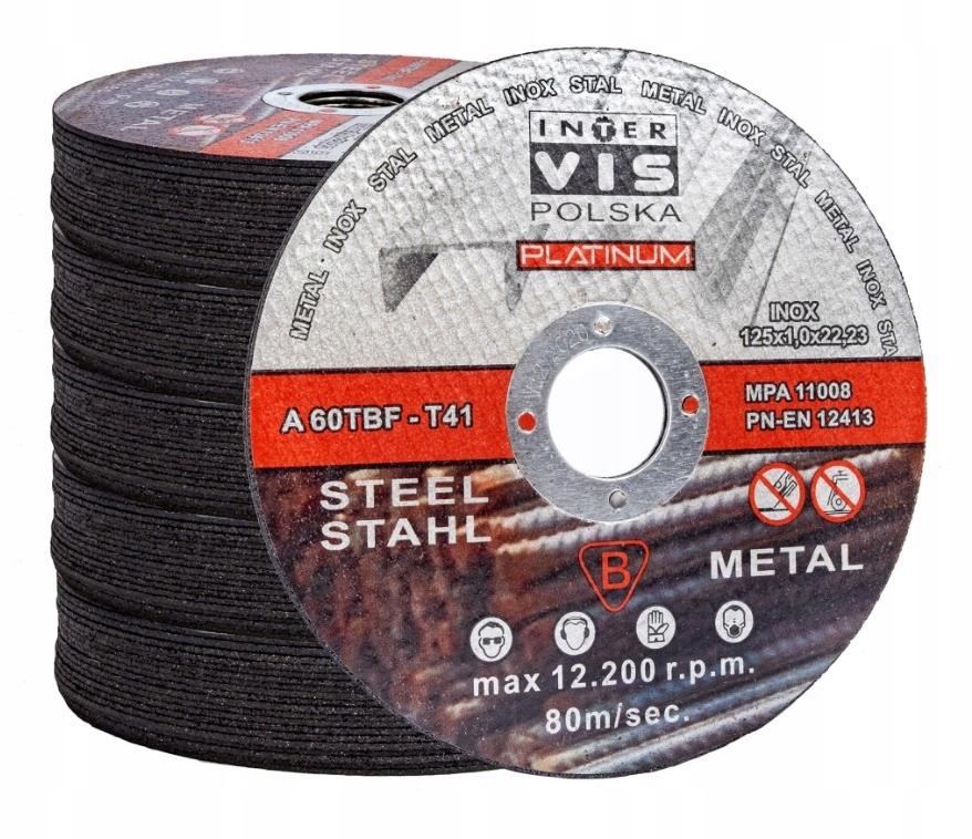 диски для РЕЗКА МЕТАЛЛА 125x1 INTER-VIS 100шт