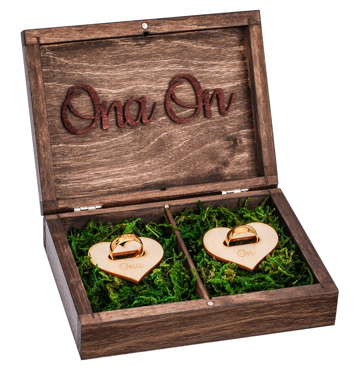 Drevený box pre svadobný prsteň vintage svadba RYTCA