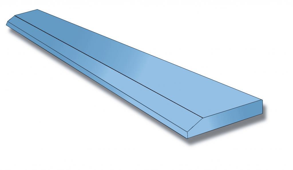 Лезвие ковша / нож 25x200мм x1000мм, сталь 500HB