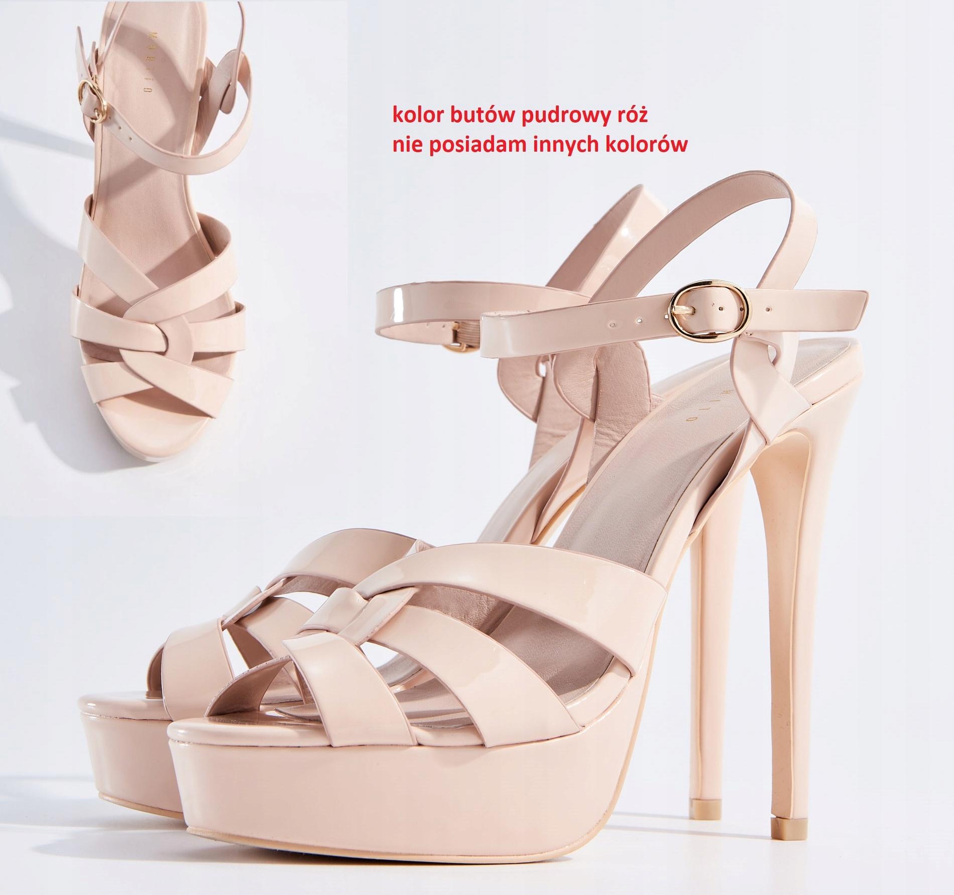 639555e2 MOHITO 37 kolor butów pudrowy różowy high heels