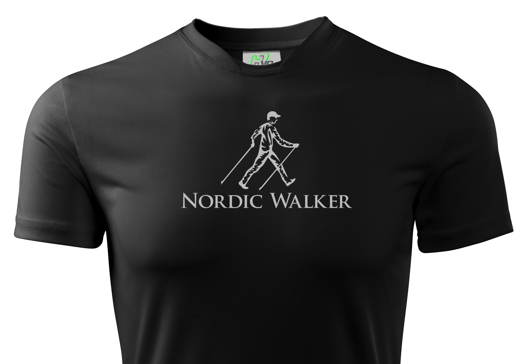 Thermal Nordic Walking T-Shirt Black Reflexné