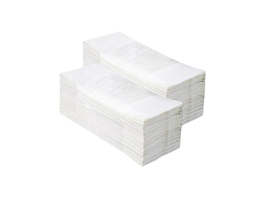Бумажные полотенца ZZ БЕЛЫЕ, 200 листов