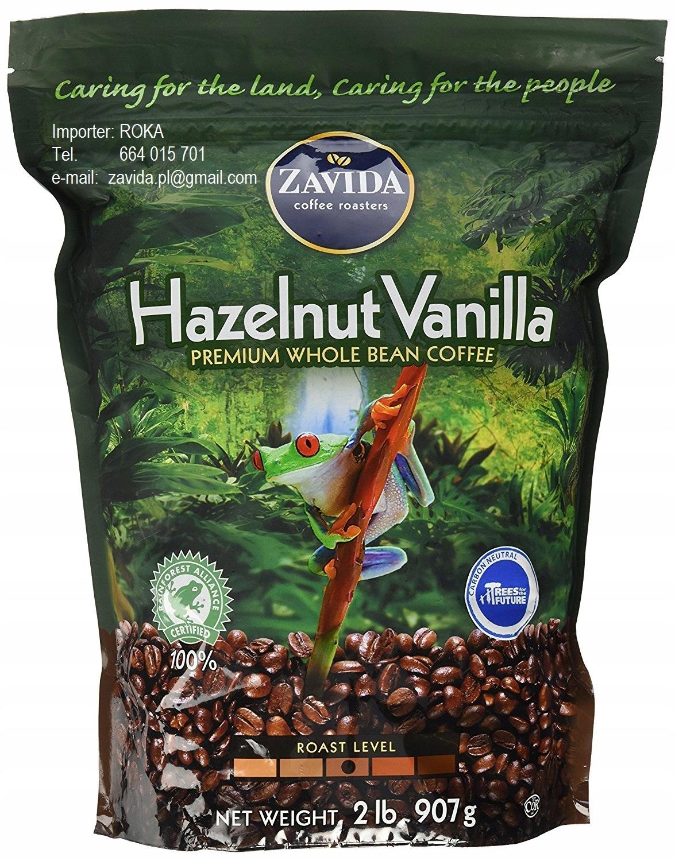 ZAVIDA kávy Lieskových orieškov Vanilka PREMIUM 907g + 40 g