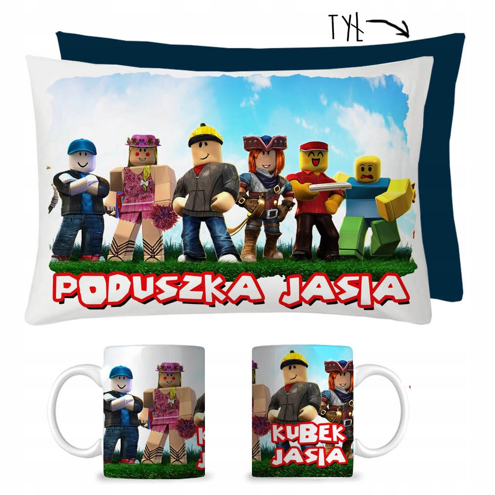Item MUG SET + CUSHION ROBLOX GIFT MIKOŁAJKI