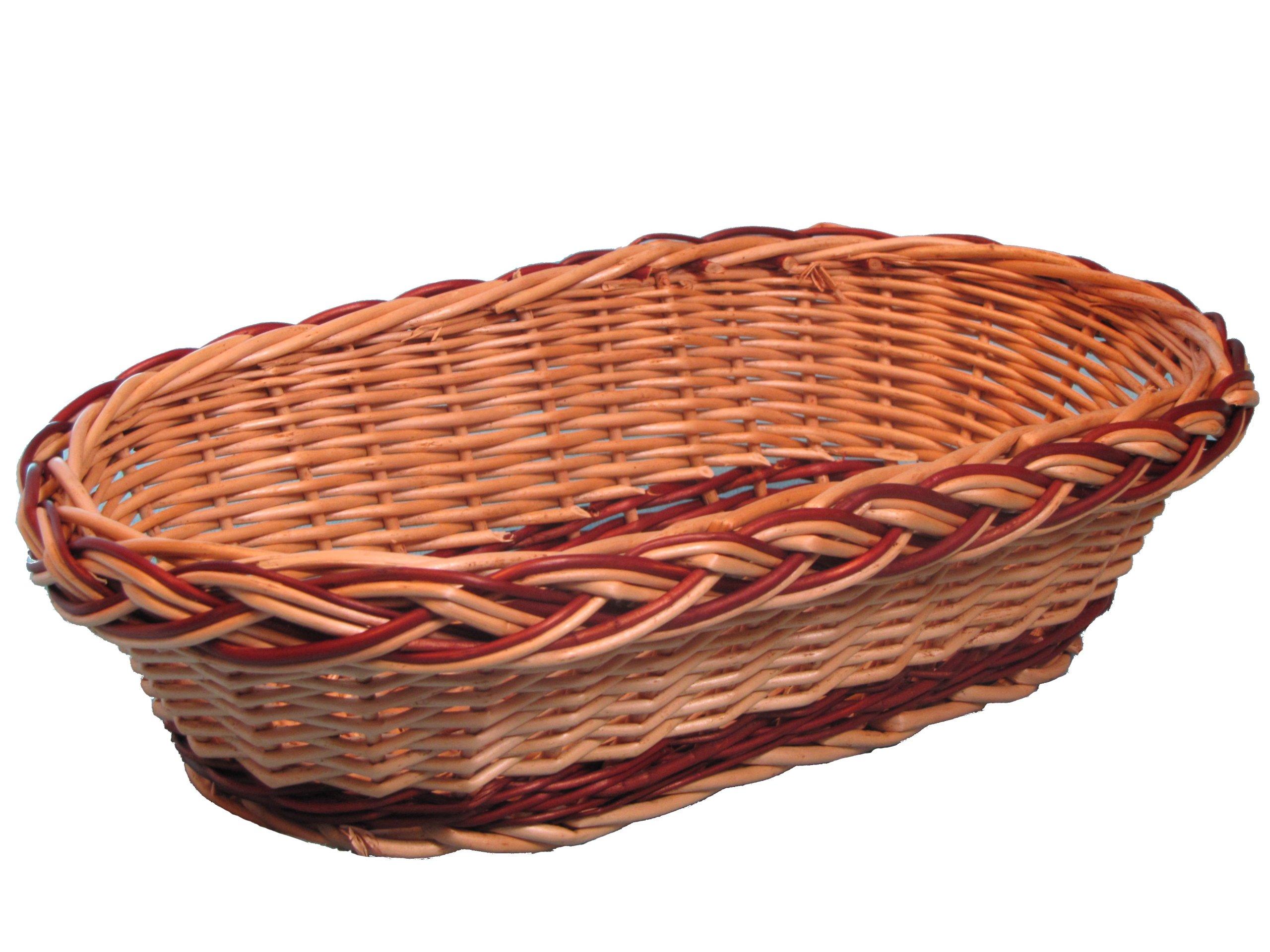Prútený zásobník pre podnos z chleba Ovocie 32 x 17 cm