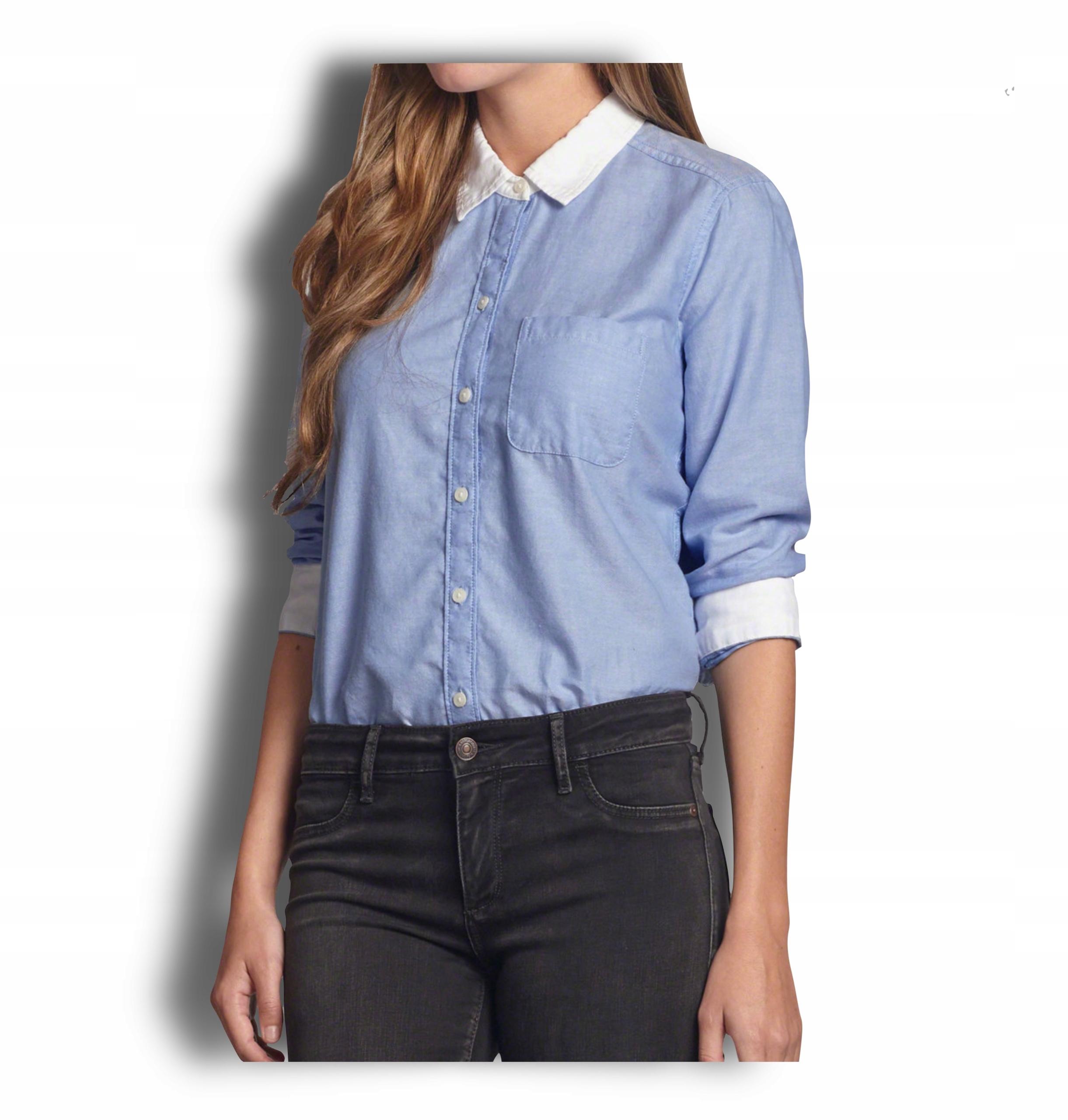 Koszula damska niebieska Abercrombie Hollister L