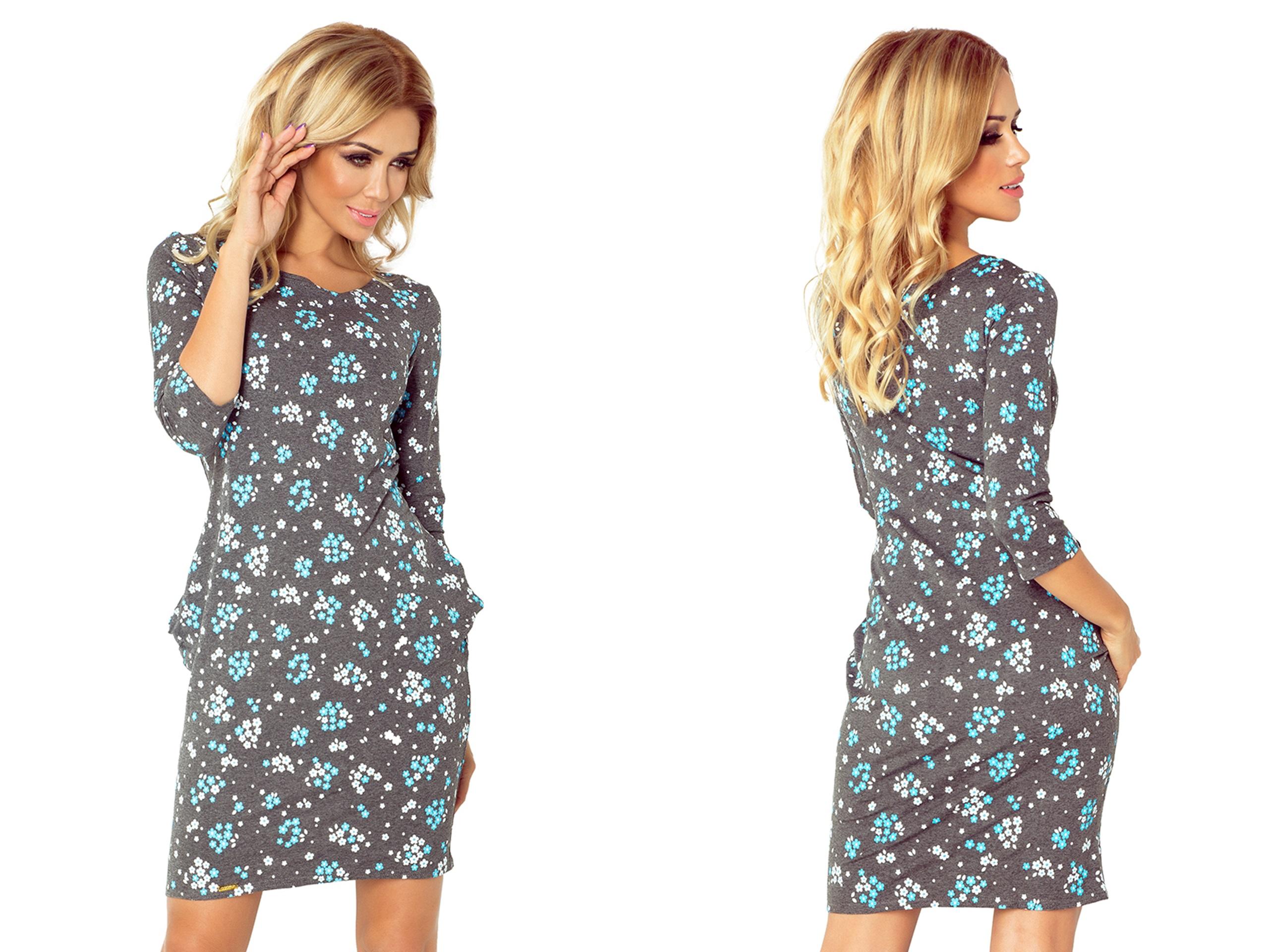 a02c92af42 ŚLICZNA Sukienka NA PRZYJĘCIE ŚWIĘTA 40-9 L 40 7299191574 - Allegro.pl