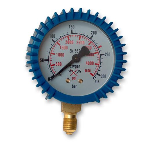 Hodiny tlakového meradla Kyslík 0-315 BAR G1 / 4 Kyslík