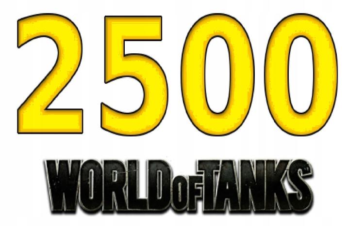 Item 2500 GOLD World of Tanks WOT