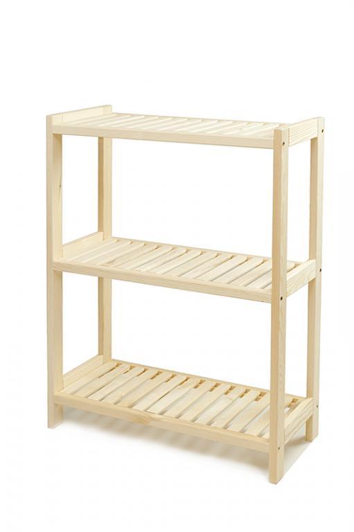 Borovicové drevo policový 3 police 93x60x33 cm