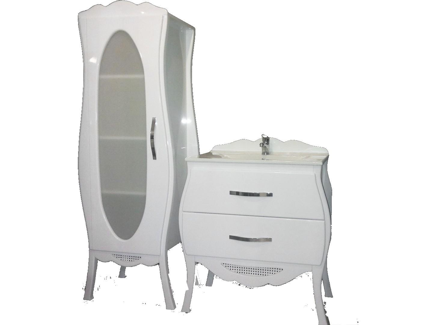 RETRO zostava - SKRINKA s umývadlom 82 + KÚPEĽ