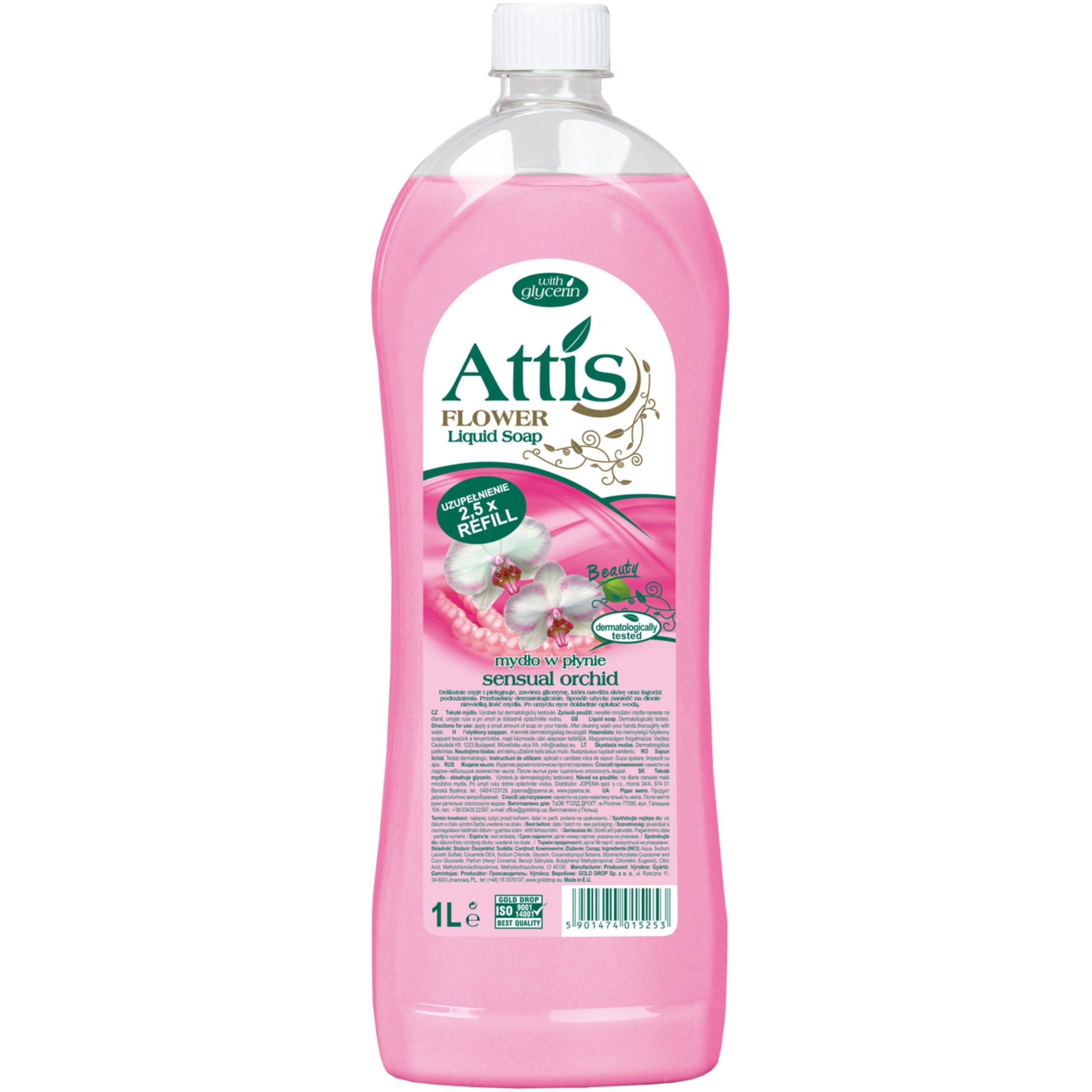 Kvapalné mydlo Attis Sensual Orchida Stock 1L