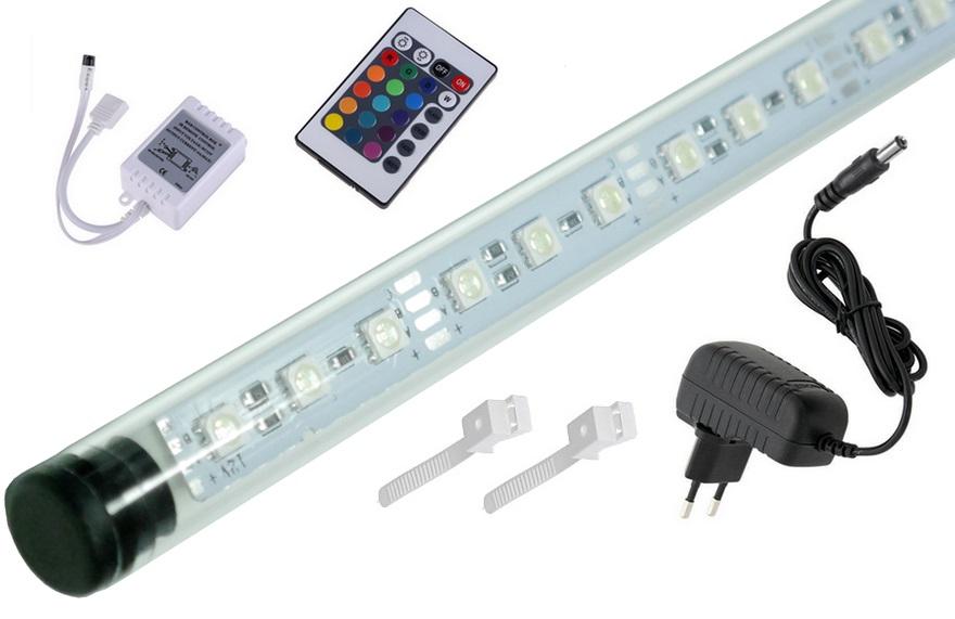Žiarivka akvárium LED RGB diaľkové ovládanie, 16 farieb 160 cm A