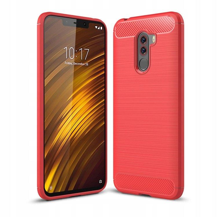 Etui Karbon Case Ht Xiaomi Pocophone F1 Czerwone