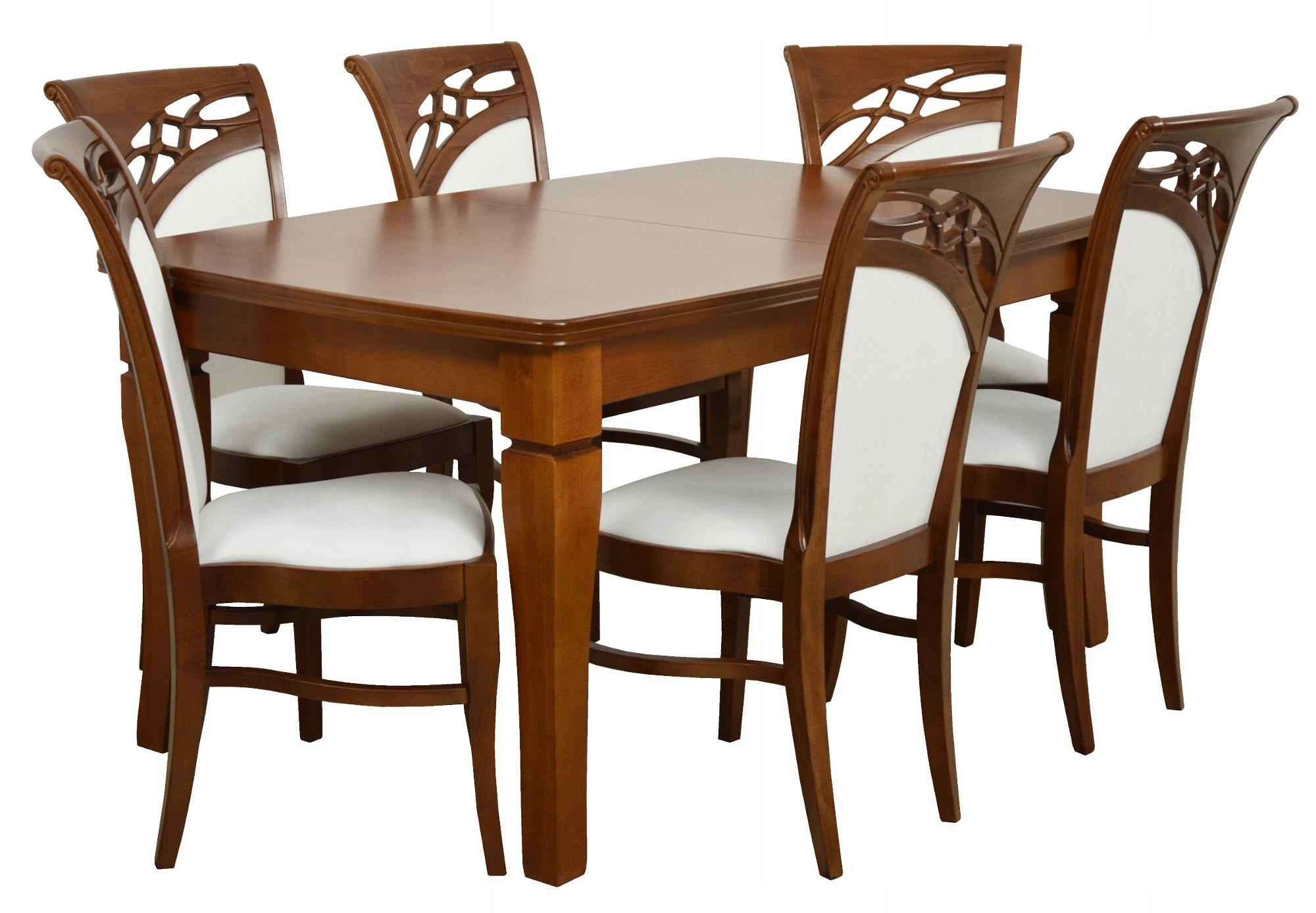 Stół 6 Krzeseł Do Kuchni Styl Włoski Dębowe 7539006129
