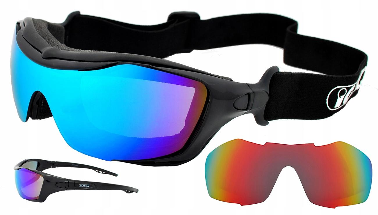 ICE-Q очки gogle Ski'N'Roll dwie soczewki S3/S2