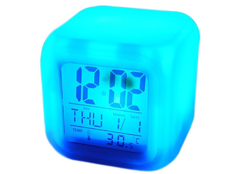 Budzik Świecący Zegarek Zegar Kameleon Termometr