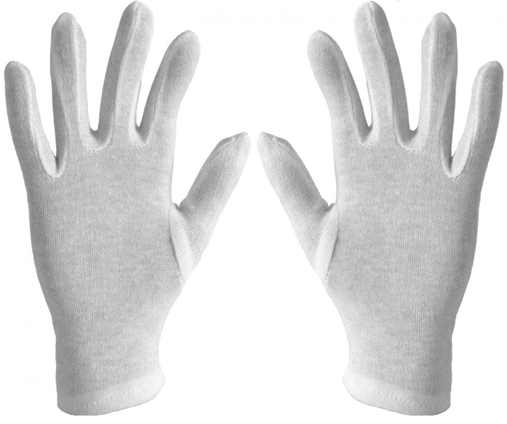 Rękawiczki Rękawice Bawełniane Białe Kosmetyczne 9