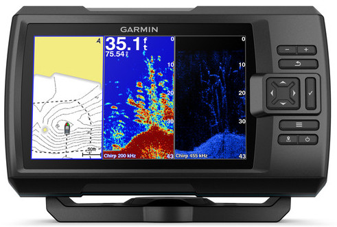 Ryby finder s GPS Garmin Útočník Plus 7cv Bathymetry