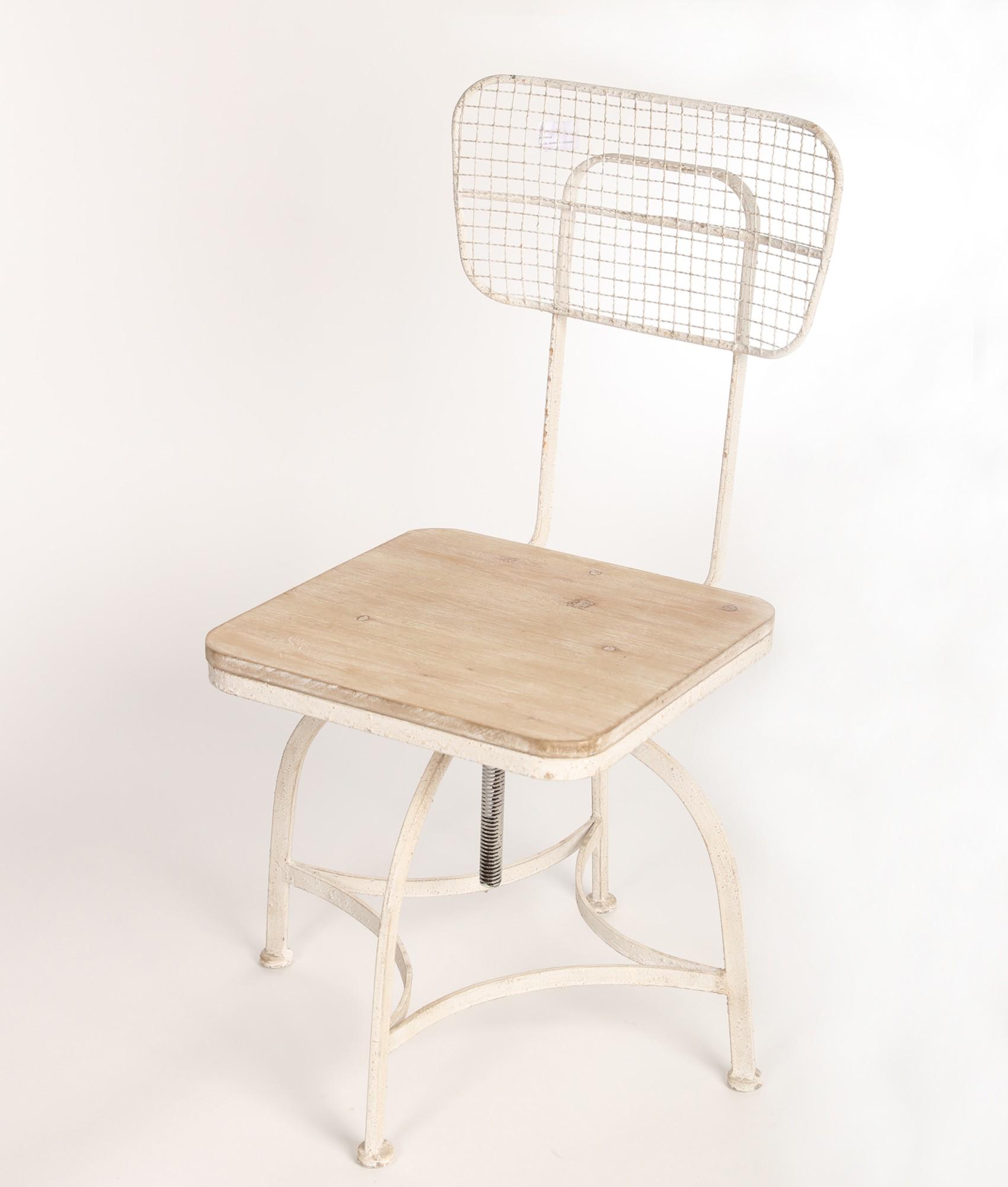 Stolička Vintage štýl, kovu a dreva Antyki24