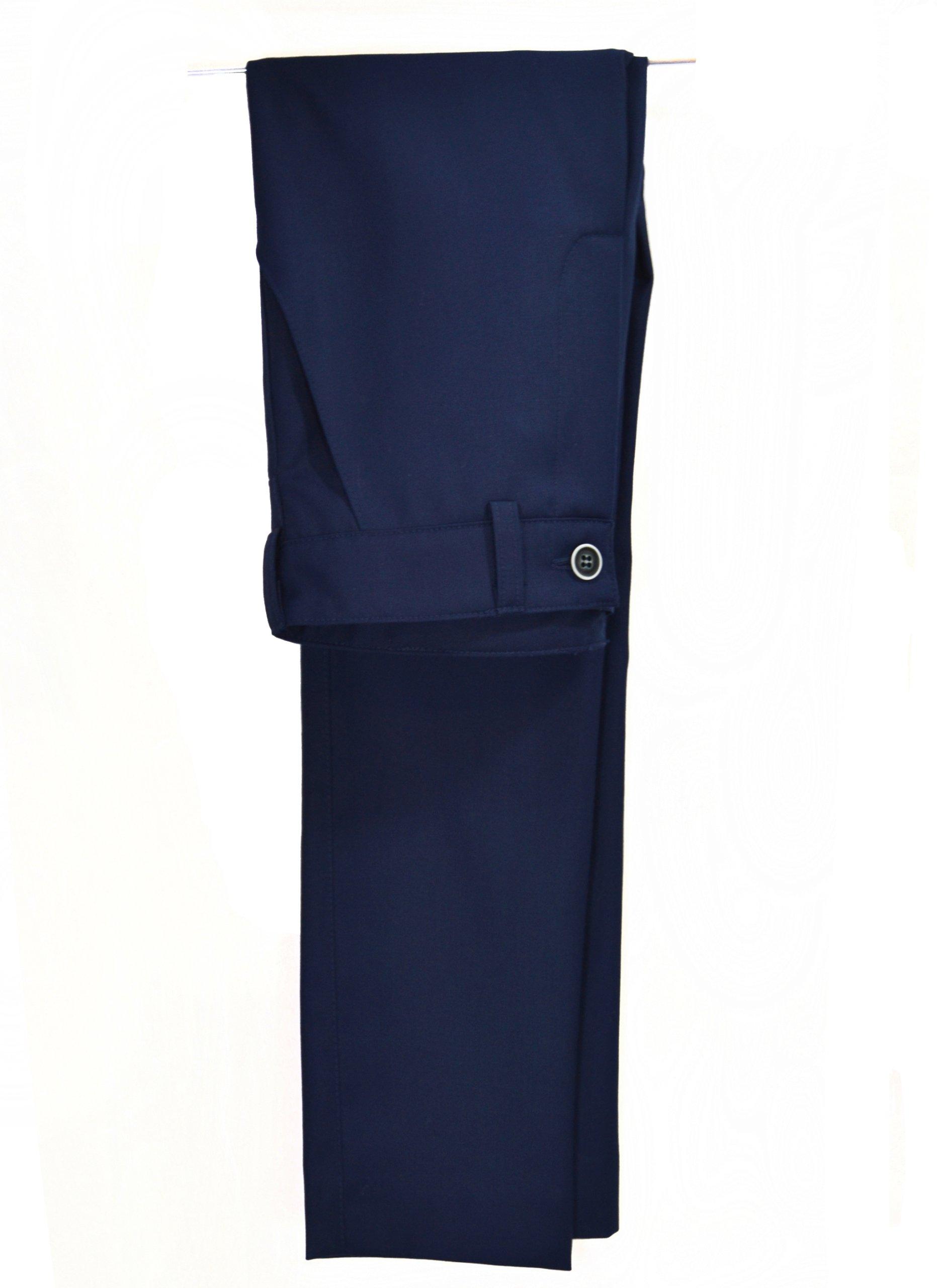 Elegantné nohavice, BEZ KANTU, tmavo modrá SLIM 134