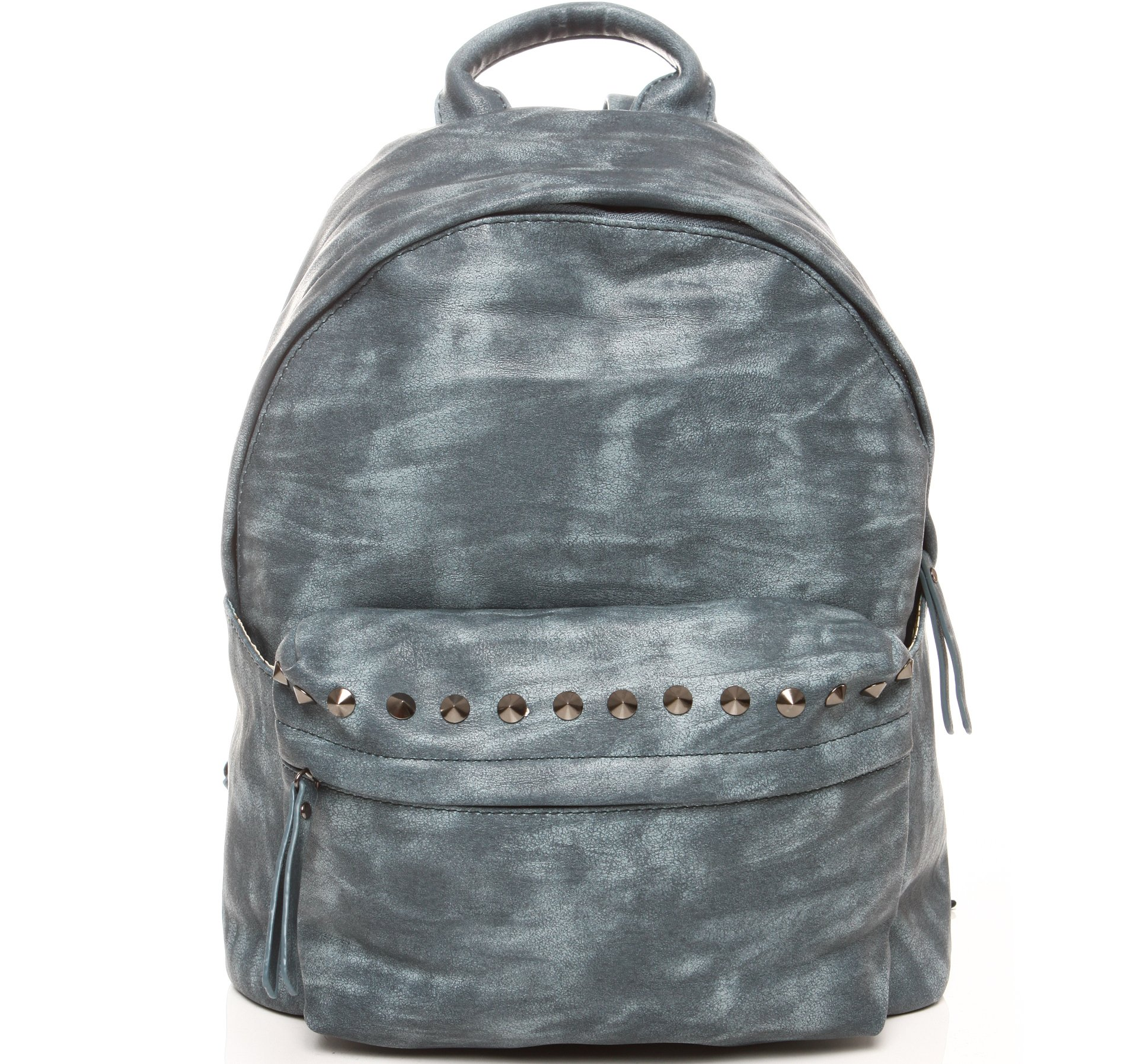 bab562f77f745 Niebieski plecak ze skóry ekologicznej ĆWIEKI 20GZ 7238555324 - Allegro.pl