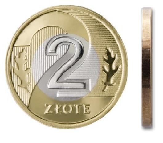 Монета 2 злотых 2015 монетного двора