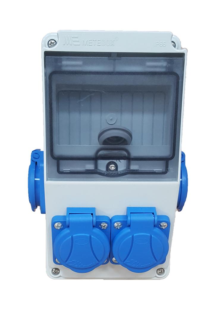Распределительное устройство строительная 4x230V синие разъему