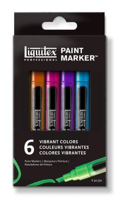 LIQUITEX FINE Zestaw markerów VIBRANT 6 sztuk