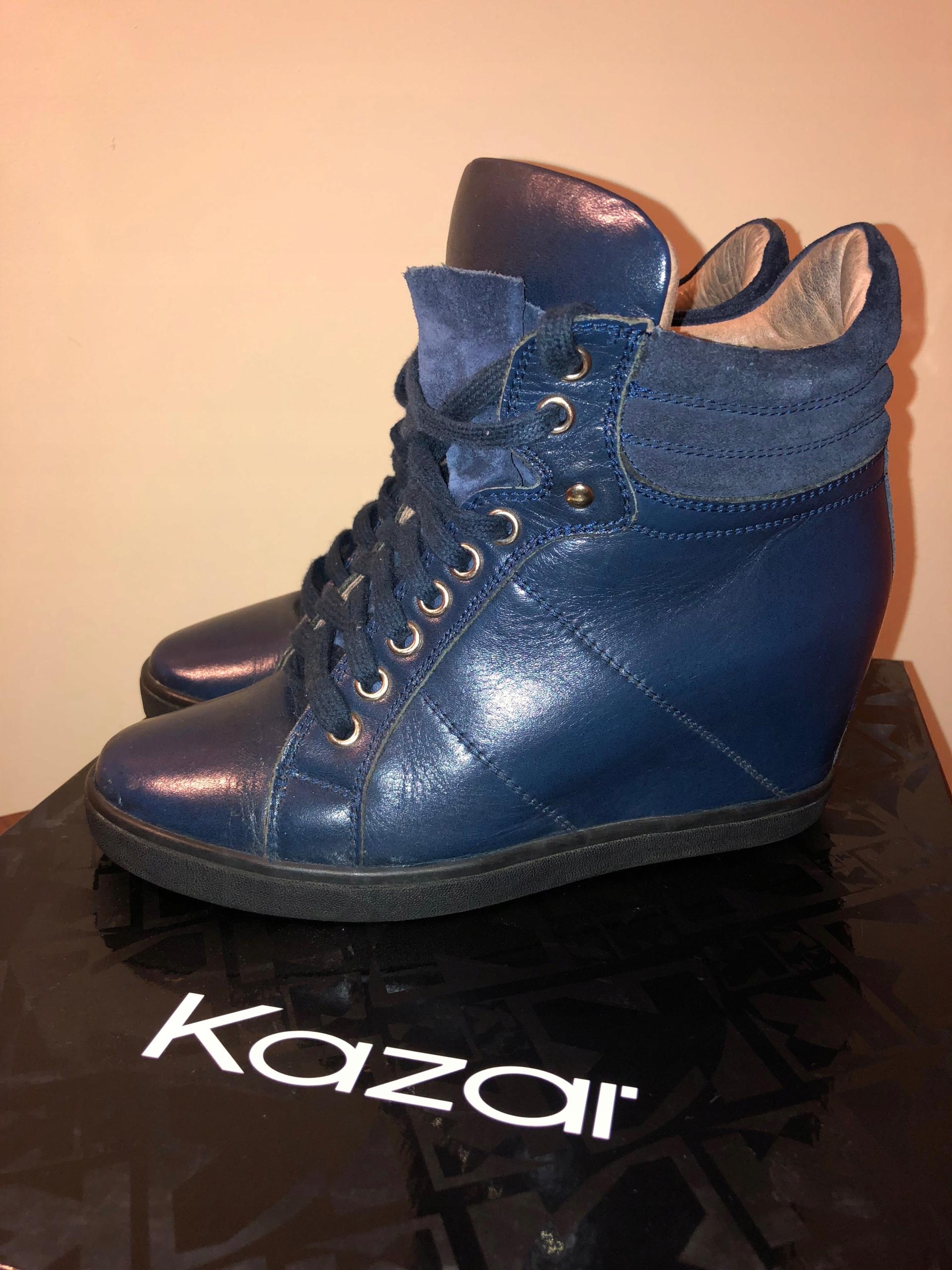 18f8a4f0 Kazar piękne botki sneakers granat skóra 38 - 7640218245 - oficjalne ...