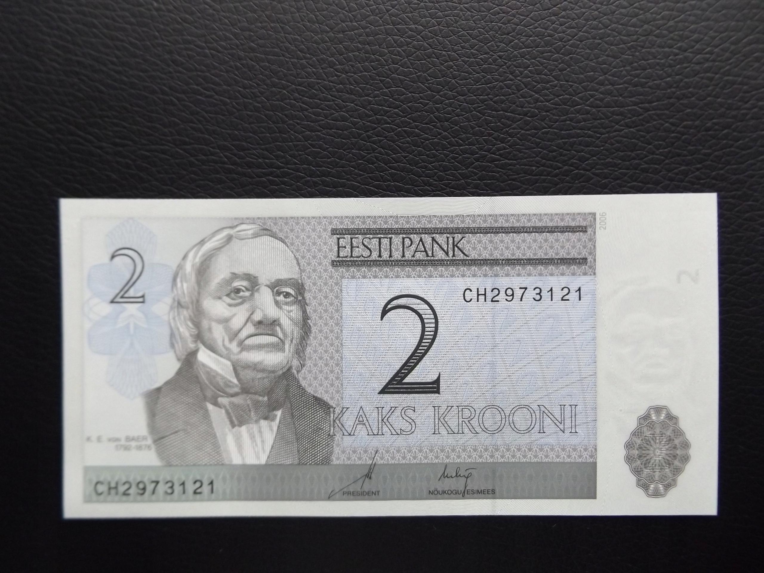 ESTONIA 2006 r. 2 KROONI PIĘKNY STAN UNC