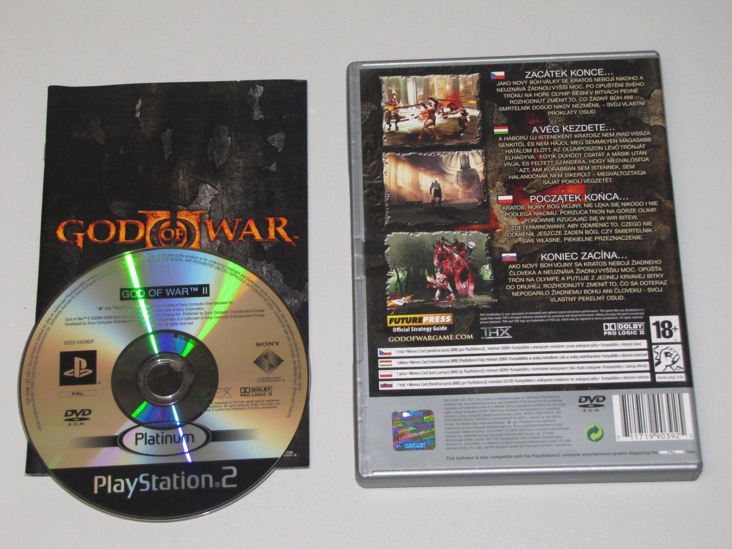 Gra Na Ps2 God Of War Ii Platinum Wydanie Pl 7131314258