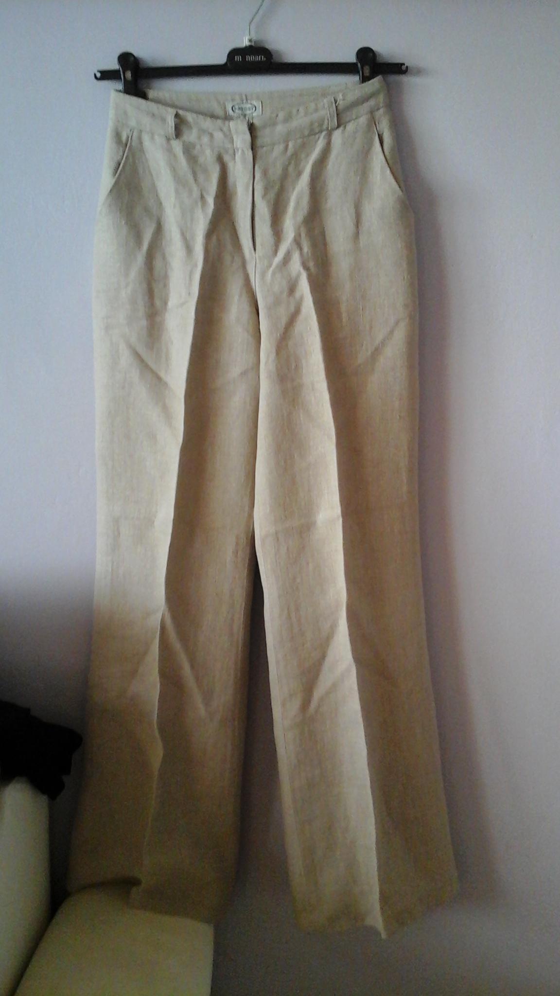 BATORY spodnie lniane, len, szerokie, r.38 7337850531