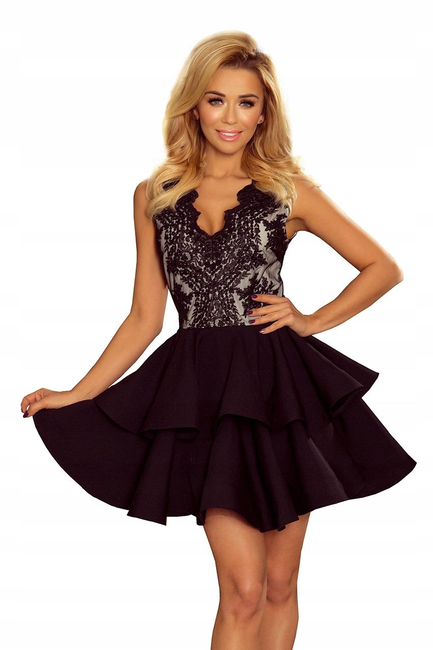 82a96aeb6d Sukienka Czarna Charlotte 200-2 - Numoco L - 7443032765 - oficjalne ...