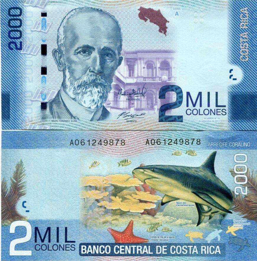 # KOSTARYKA - 2000 COLONES - 2009 - P275- UNC A00