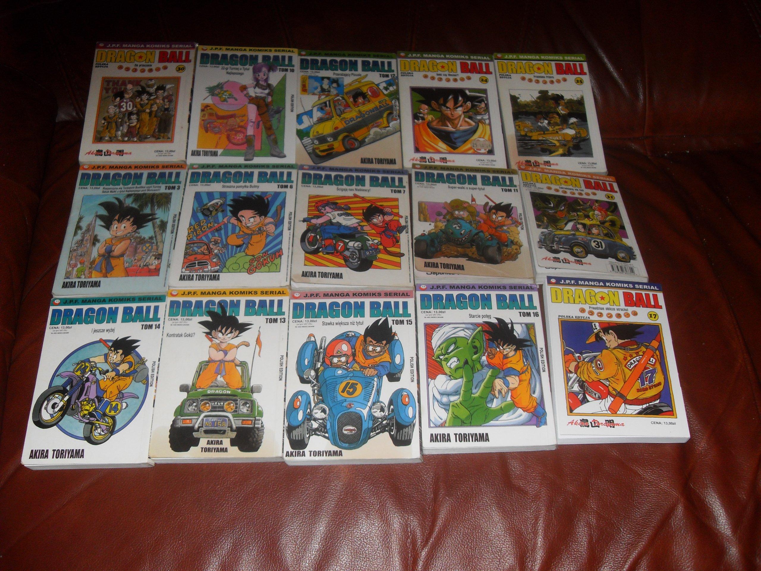 Dragon Ball tomy 3,6,7,10-17, 24,25,30,31