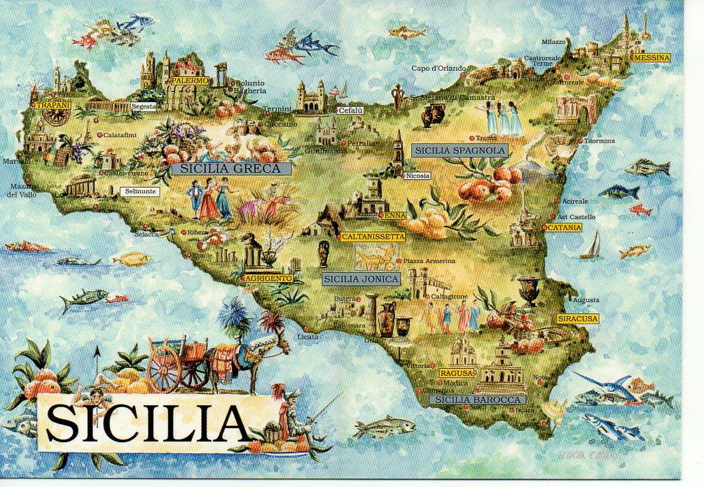 sycylia mapa SYCYLIA MAPA   7006828679   oficjalne archiwum allegro