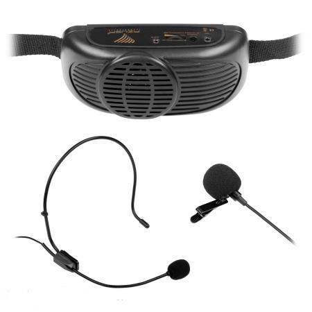Zestaw nagłośnieniowy dla przewodnika z mikrofone