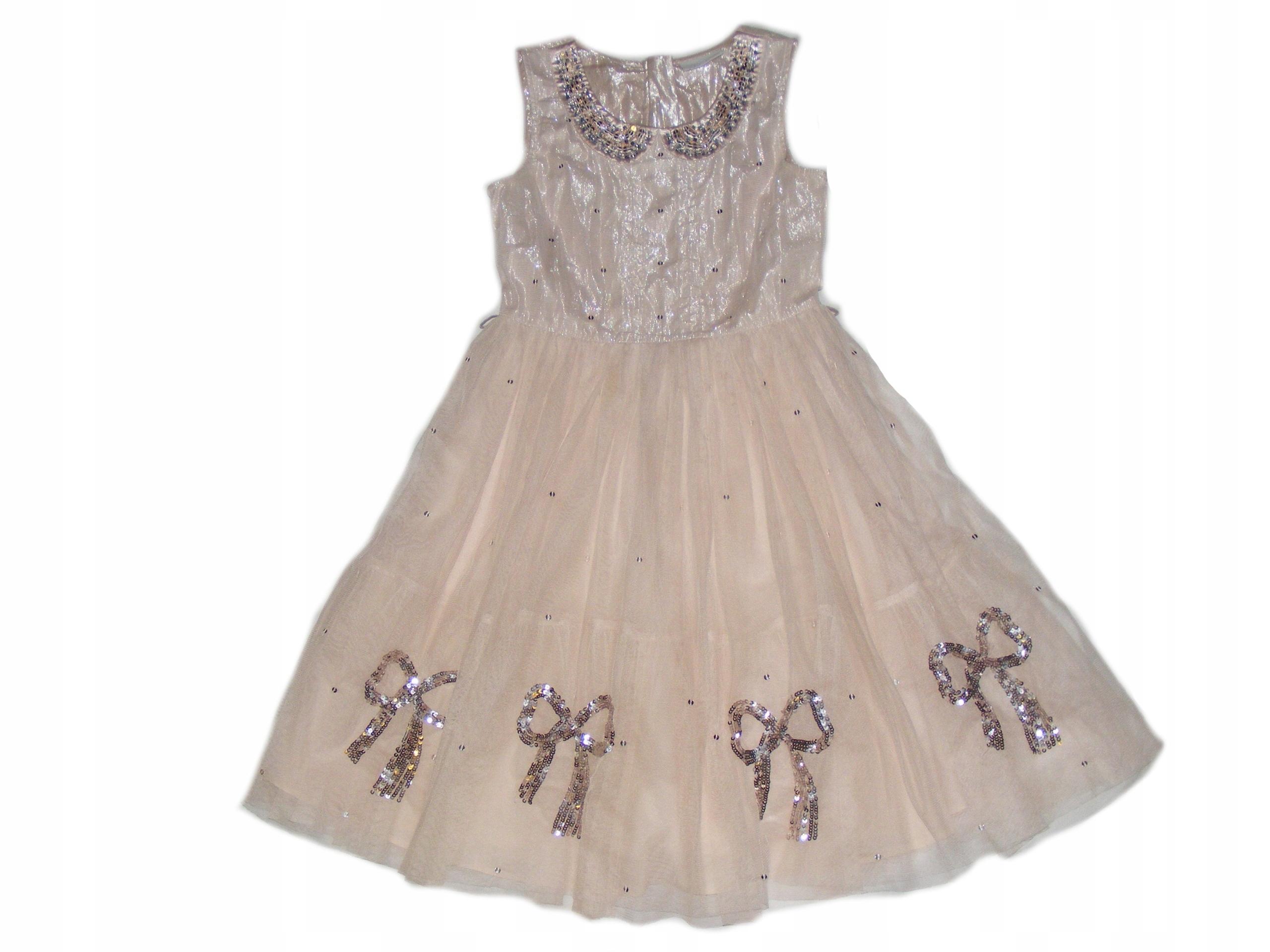 Sukienka Tiulowa Dla Dziewczynki 11lat 146 Wesele 7540188465
