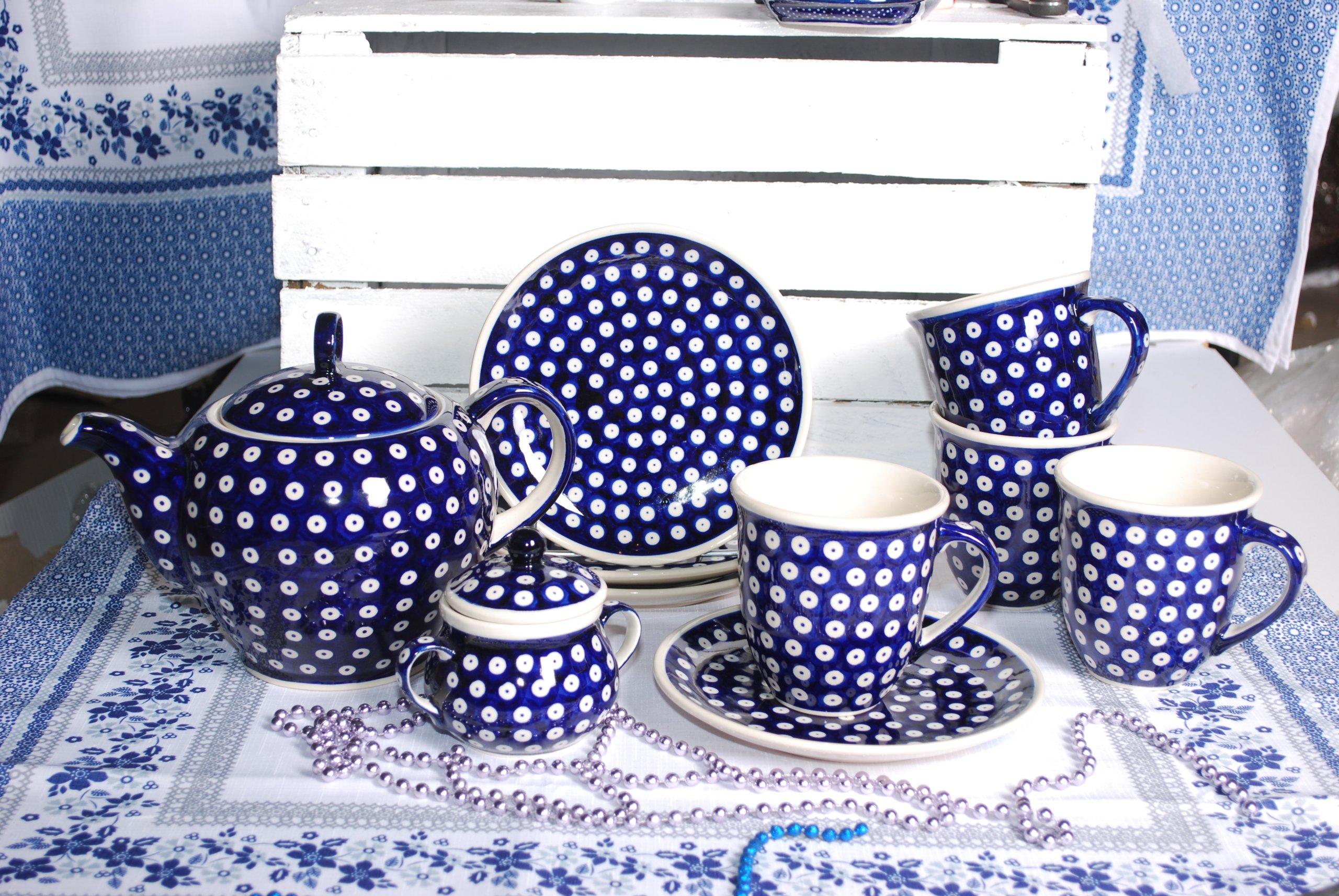 Ceramika Bolesławiec Komplet śniadaniowy 4os 7164162879