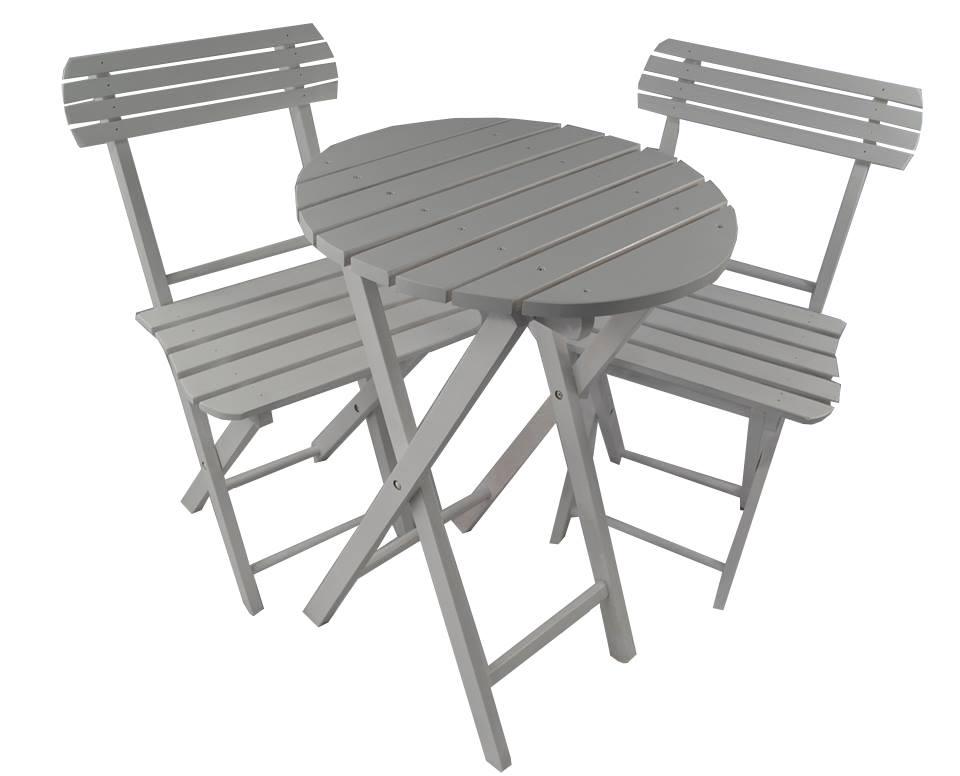 Stolik Krzesła Balkonowy Ogrodowy Kawowy Biały