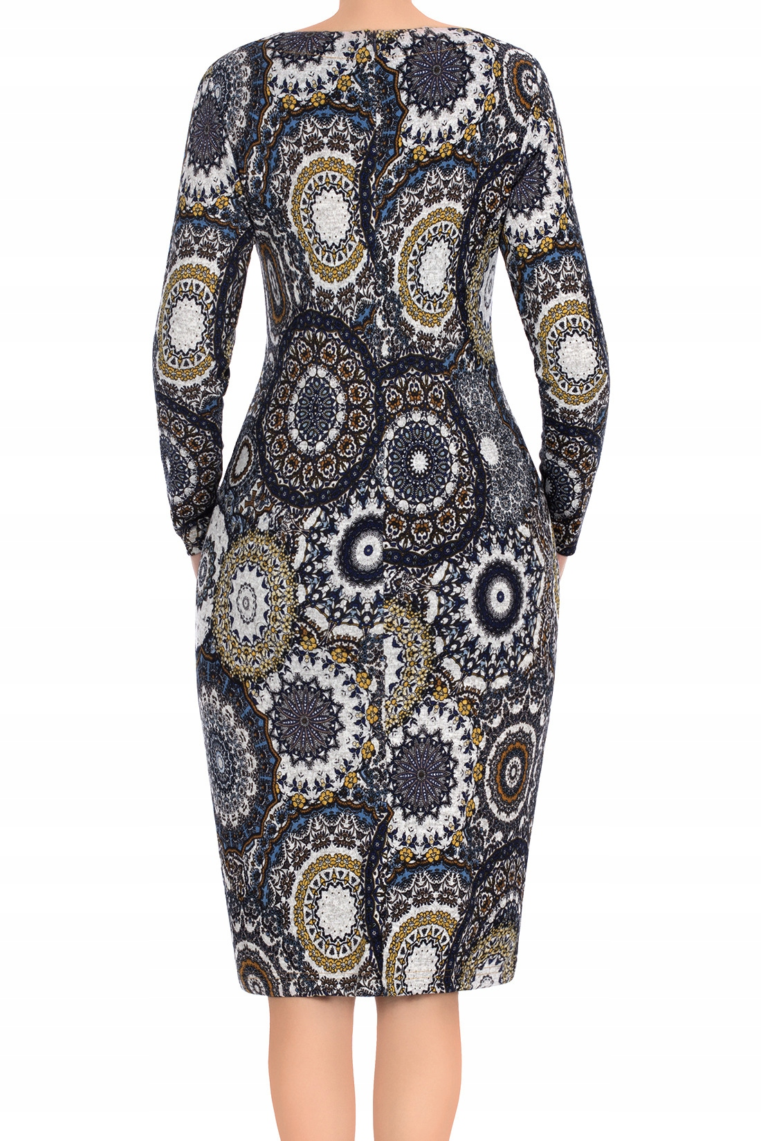 e3ebc35d6d Klasyczna sukienka JSA Maria 2877 wzory 40 MODON - 7714862027 ...